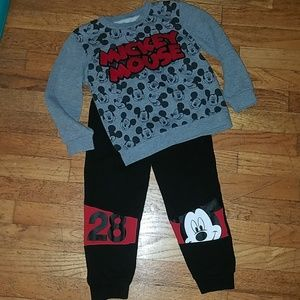Boys mickey mouse matching outfit